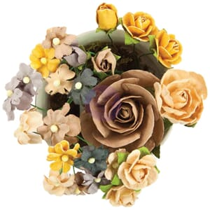Prima: Hollybrook/Bouquet Mix Mulberry Paper Flowers