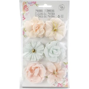 Prima: Princess/Love Story Paper Flowers 6/Pkg