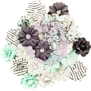 Prima: Little Moments Flirty Fleur Mulberry Paper Flowers 24