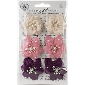 Prima: Magical Gypsy/Moon Child Paper Flowers 6/Pkg
