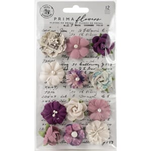 Prima: First Eclipse/Moon Child Paper Flowers 12/Pkg