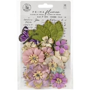 Prima: Light Years/Moon Child Paper Flowers 14/Pkg