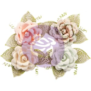 Prima: Untold Stories/Poetic Rose Paper Flowers 4/Pkg
