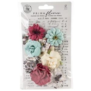 Prima: Beauty/Midnight Garden Paper Flowers 12/Pkg