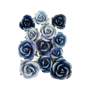 Prima: Naples Shore/Capri Mulberry Paper Flowers 12/Pkg