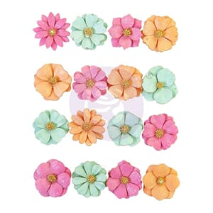 Prima: Surf Break/Surfboard Mulberry Paper Flowers 16/Pkg