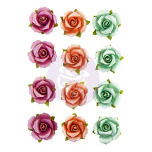Prima: Beach Break/Surfboard Mulberry Paper Flowers 12/Pkg