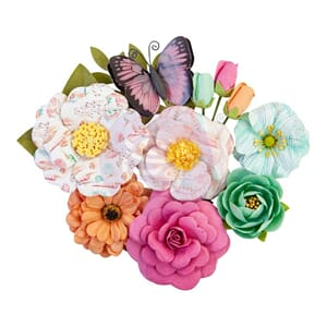 Prima: Endless Summer/Surfboard Paper Flowers, 12/Pkg