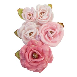 Prima: True Friends - With Love Paper Flowers, 5/Pkg