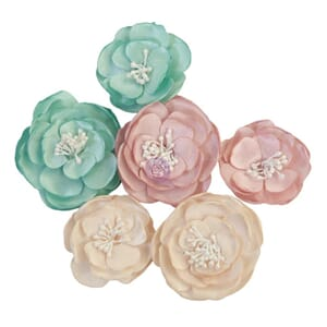 Prima: With Love - With Love Paper Flowers, 5/Pkg