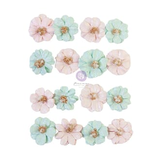 Prima: Lovely Heart/Magic Love Mulberry Paper Flowers