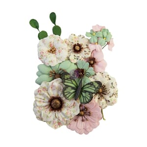 Prima: Sewn With Love/My Sweet Mulberry Paper Flowers, 12/Pk