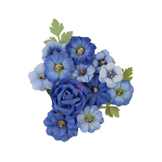 Prima: Blue River/Nature Lover Mulberry Paper Flowers