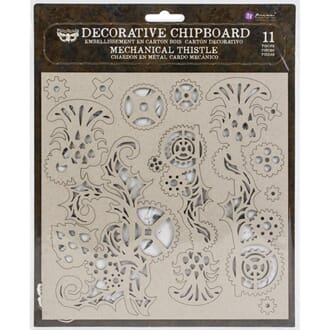 Prima: Mechanical Thistle Laser Cut Chipboard, 11/Pkg
