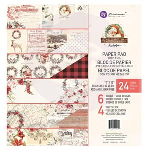 Prima: Christmas In The Country Paper Pad, 12x12, 24/Pkg