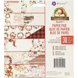 Prima: Christmas In The Country Paper Pad, 6x6, 30/Pkg