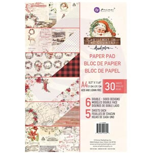 Prima: Christmas In The Country Paper Pad, A4, 30/Pkg