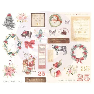 Prima: Icons Christmas In The Country Chipboard Stickers 29/
