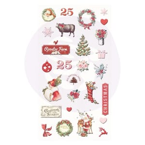 Prima: Christmas in the country Puffy Stickers, 27/Pkg
