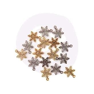 Prima: Snowflakes - Christmas In The Country Charms, 16/Pkg