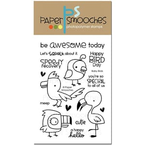 Paper Smooches: Baby Birds Icons Clear Stamps, 4x6 inch