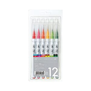 Kuretake: Zig Clean Color Real Brush Markers, 12/Pkg