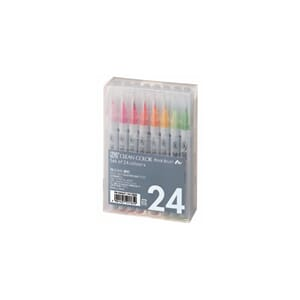 Kuretake: Zig Clean Color Real Brush Markers, 24/Pkg