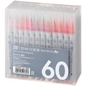 Zig: Clean Color Real Brush Markers 60/Pkg