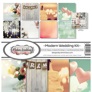 Reminisce: Modern Wedding Collection Kit, 12x12, 17/Pkg