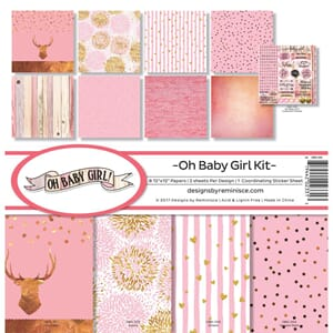 Reminisce: Oh Baby Girl Collection Kit, 12x12, 17/Pkg