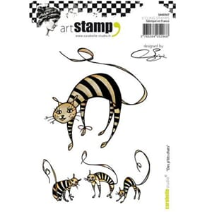 Carabelle: Cling Stamp A6 - Des p'tits chats by Soizic