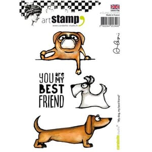 Carabelle: Cling Stamp A6 - My dog, my best friend by Alexi