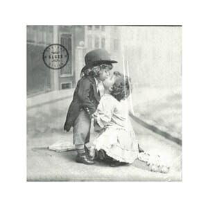 Sagen Vintage: Serviett - Kissing Children