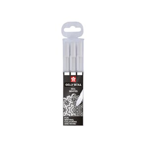 Sakura: White - Gelly Roll Medium Point Pen, 3/Pkg