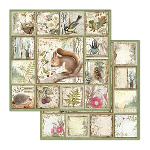 Stamperia: Framed Squirrel Double-Sided Cardstock