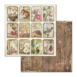 Stamperia: Forest Tag Double-Sided Cardstock