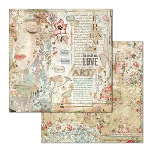 Stamperia: Love Art Face Double-Sided Cardstock