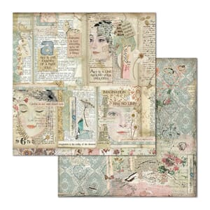 Stamperia: Faces & Writings Double-Sided Cardstock