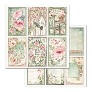 Stamperia: Frames House Of Roses Double-Sided Cardstock