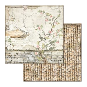 Stamperia: Small Bricks W/Tree Double-Sided Cardstock