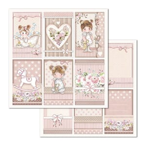 Stamperia: Little Girl Frames Double-Sided Cardstock