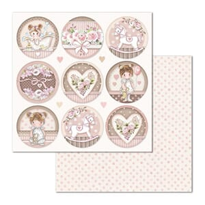 Stamperia: Little Girl Round Double-Sided Cardstock