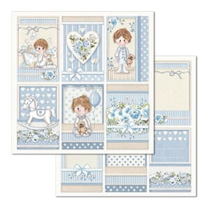 Stamperia: Little Boy Frames Double-Sided Cardstock