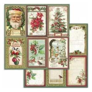 Stamperia: Classic Christmas Cards, str 12x12 Inch
