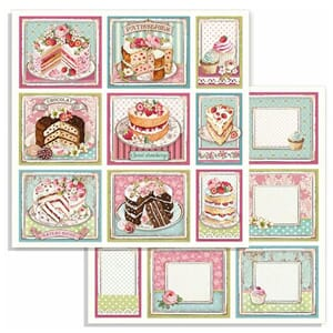 Stamperia: Cakes, Sweety Double-Sided Cardstock