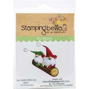 Stamping Bella: Two Gnomes On A Log Cling Stamps
