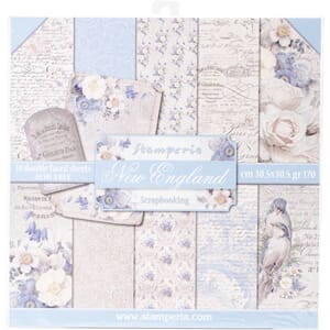Stamperia: New England Paper Pack, 12x12, 10/Pkg