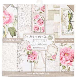 Stamperia: Letters & Flowers Paper Pack, 12x12, 10/Pkg