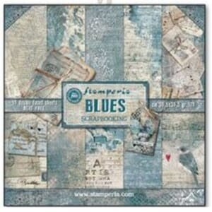 Stamperia: Blues 12x12 Inch Paper Pack, 10/Pkg