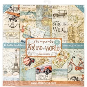 Stamperia: Around the World Paper Pack, 12x12, 10/Pkg